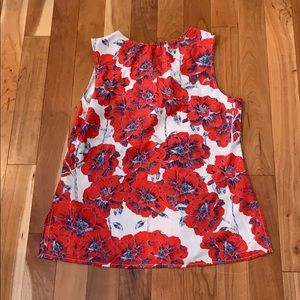 Red white and blue blouse size medium